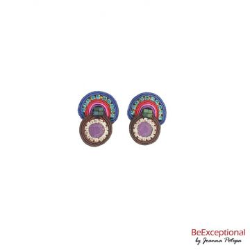 Hand embroidered earrings Andor S